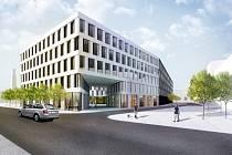 Uvažované multifunkční centrum společnosti CPI namísto hotelu Černigov v Hradci Králové.