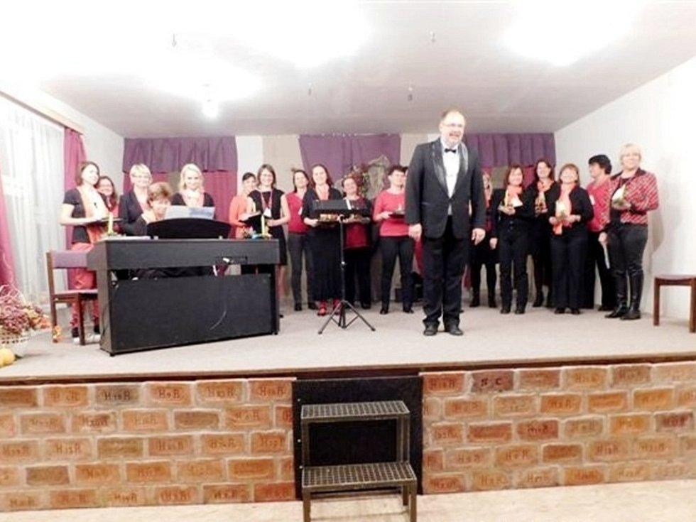 Koncert Vokální harmonie v Čistěvsi.
