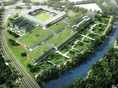 Malšovická aréna, soutěžní návrh J&T Real Estate