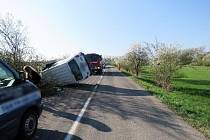 Havárie vozidla s hendikepovanými sportovci u Smidar.
