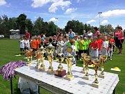 Fotbalové klání mateřských škol na hradeckém Háječku.