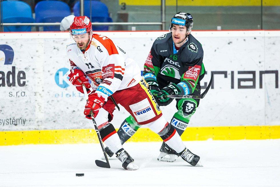 Hokejová extraliga: Mountfield HK - BK Mladá Boleslav.