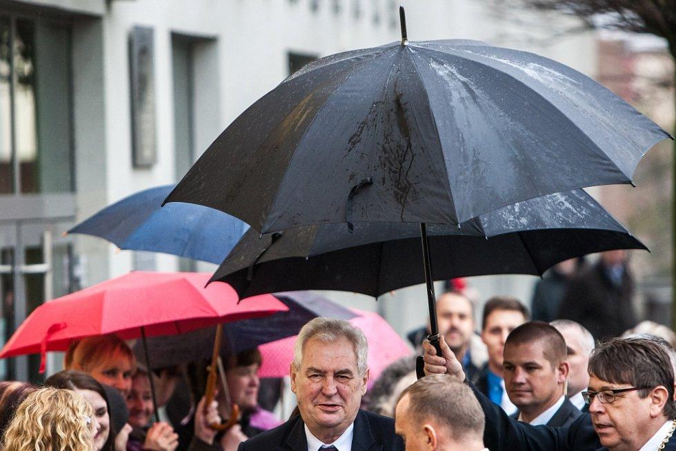 Prezident Miloš Zeman v Hradci Králové.