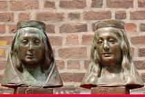 Eliška Rejčka a Alžběta Pomořanská, nové busty v hradecké katedrále