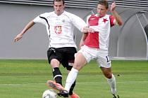 Přípravné fotbalové utkání: FC Hradec Králové - SK Slavia Praha.