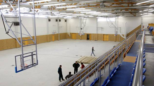 Sportovní hala v Třebši v Hradci Králové.