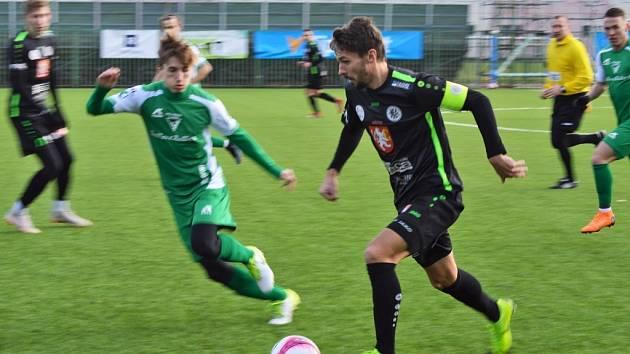 Patrik Brandner je v Hradci na testech z ligové Dukly. V duelu s Vlašimí se blýskl gólem.