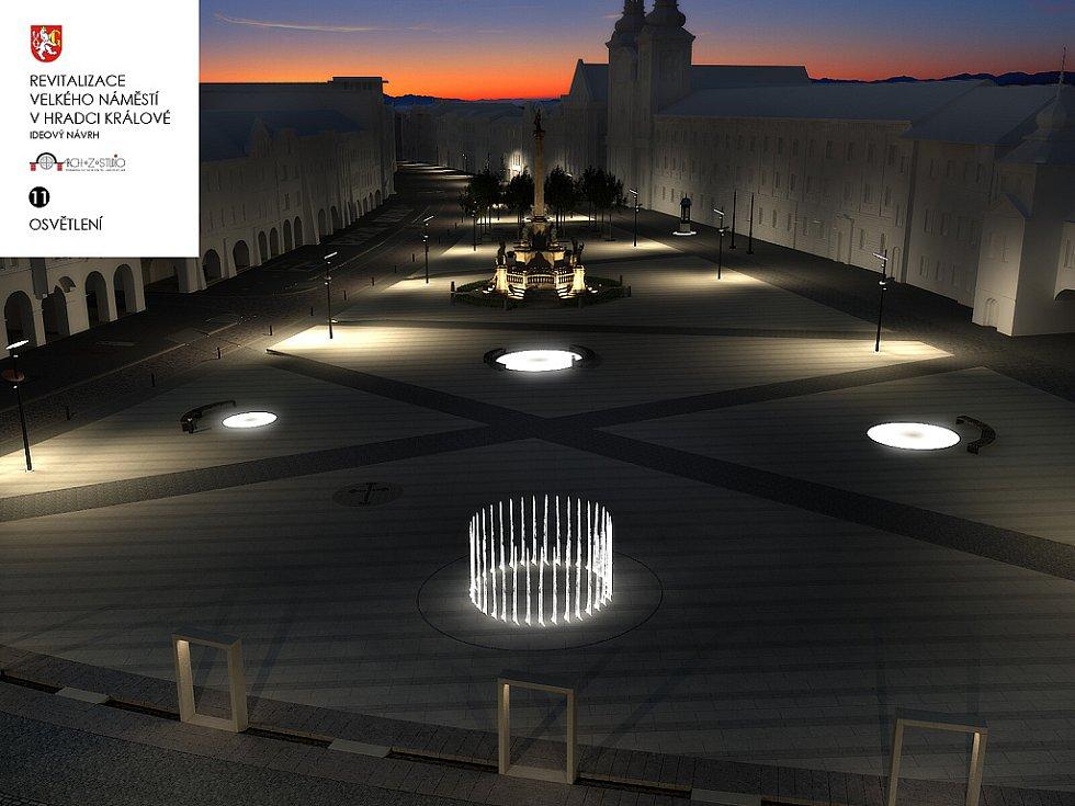Návrh na proměnu Velkého náměstí v Hradci Králové očima architekta Jaroslava Ševčíka.