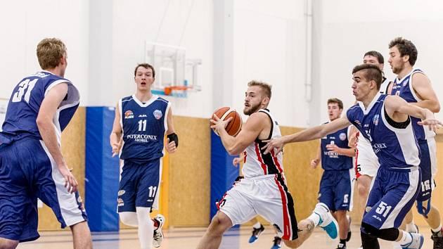 Basketbalová 1. liga mužů: Královští sokoli - Plzeň.