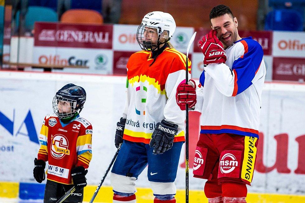 Benefice pro Petera Frühaufa, která byla jakýmsi rozloučením hokejového obránce s Hradcem Králové.