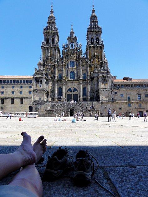 Katedrála ve španělském městě Santiago de Compostela.