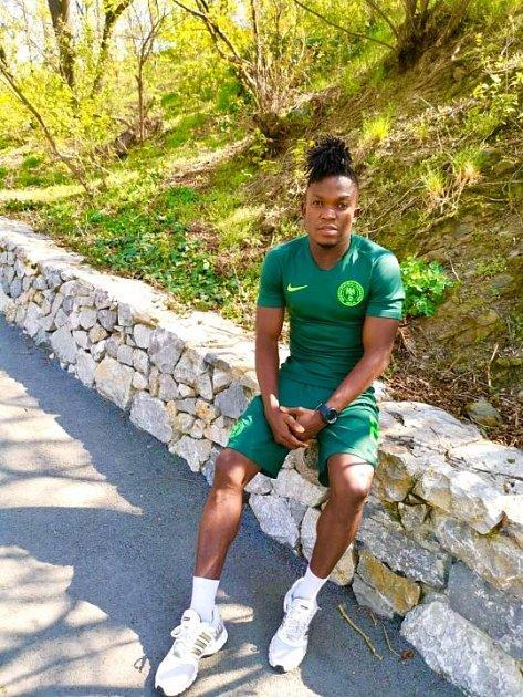 Nigerijský fotbalista Mcdon Mbah.