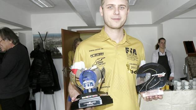 Oceněný automobilový závodník Michal Matějovský.