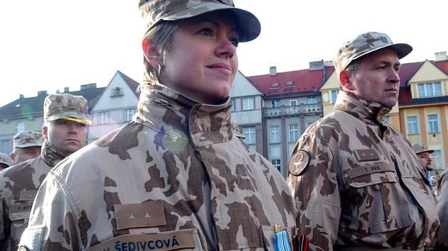 Předávání medailí na Masarykově náměstí