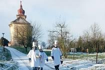 Tříkrálová sbírka v obci Žíželeves.