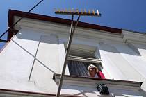 Druhá zlínská výzva - hrábě na obecním úřadě v Dohalicích.
