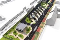 Původní vizualizace nového autobusového nádraží v Novém Bydžově. Pěkné již na první pohled, co říkáte?