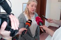 Renata Stehlíková po zprošťujícím verdiktu Krajského soudu v Hradci Králové.