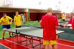 Okresní přebor dívek ze SŠ a SOU ve stolním tenisu.