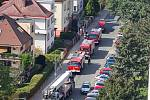 Požár bytu v Baarově ulici v Hradci Králové