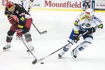 Tipsport extraliga ledního hokeje: Mountfield HK - HC Kometa Brno.