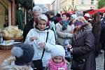 Vánoční trhy na hradeckém Masarykově náměstí.