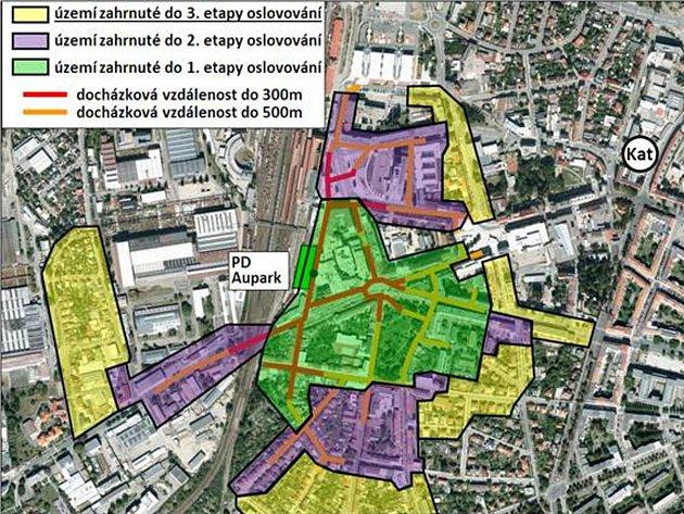 Vtomto týdnu dostali lide zulic vokolí Auparku do schránek leták města, kde je princip získání výhodného parkovacího místa popsaný a vysvětlený. Je tu imapka zón.