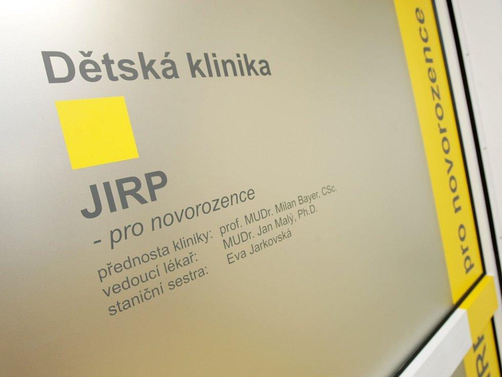 Jednotka intenzivní péče pro novorozence na dětské klinice ve Fakultní nemocnici Hradec Králové.