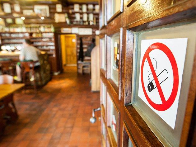 Zákaz kouření.