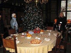 Vánoce na zámku Hrádek u Nechanic.