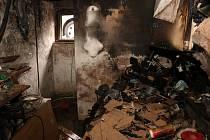 Technická závada kompresoru zapříčinila požár ve sklepě