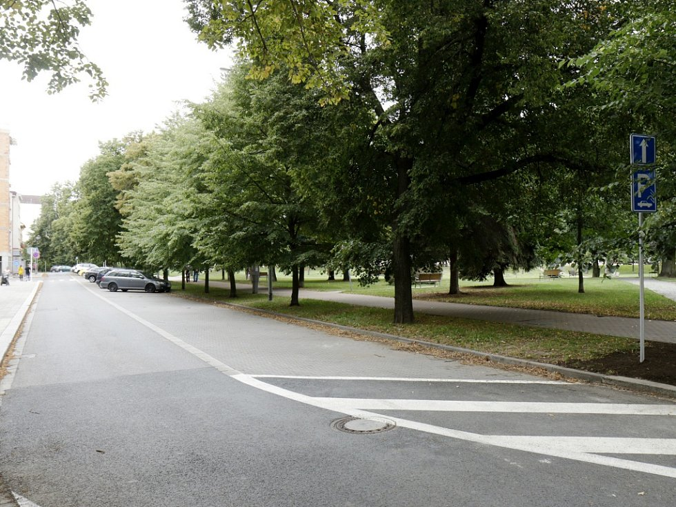 Horova ulice v Hradci Králové.