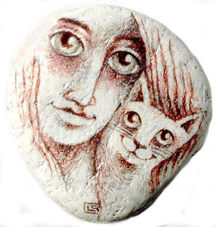 Omalovaný kamínek: Ladislava Pechová.