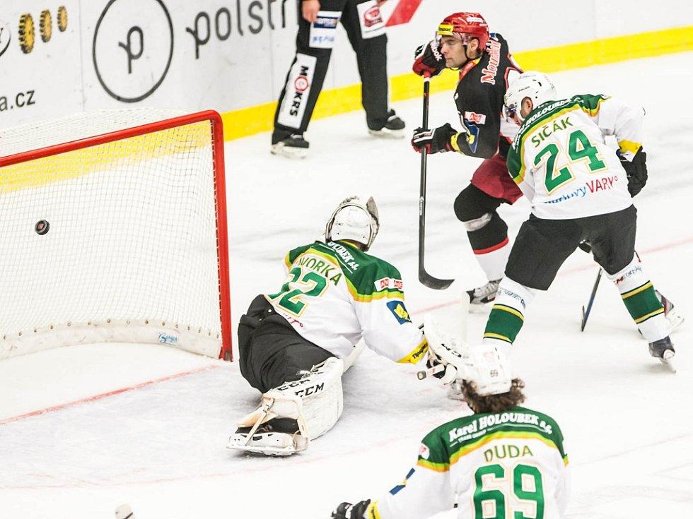 Hokejová extraliga: Mountfield HK - HC Energie Karlovy Vary.