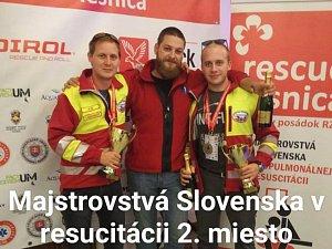 Záchranáři z Královéhradeckého kraje zabodovali na Mistrovství Slovenska v resuscitaci.