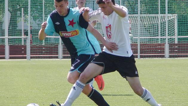 I. fotbalová liga staršího dorostu: FC Hradec Králové - SK Slavia Praha.