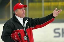 JSEM SPOKOJENÝ, říká o své práci ve Spartaku Moskva Miloš Říha, bývalý kouč hokejistů HC Moeller Pardubice.