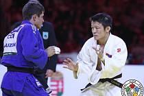 Judista Pavel Petřikov na mistrovství světa v Budapešti.