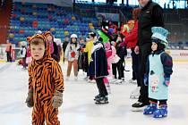 Království masek na ledě - dětský karneval hradeckého Sionu na zimním stadionu.