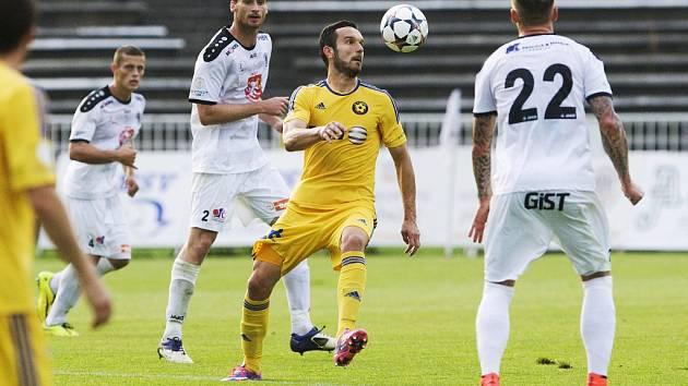 Fotbalová Synot liga: FC Hradec Králové - FC Vysočina Jihlava.