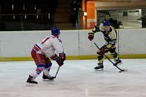 Krajská hokejová liga - 1. semifinále play off: HC Náchod - Stadion Nový Bydžov.