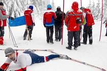 Z mistrovství České republiky v klasickém lyžování sportovců s intelektovým znevýhodněním.