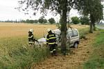 Havárie osobního automobilu u Skalice.