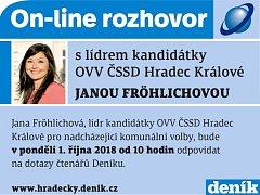 On-line s Janou Fröhlichovou.