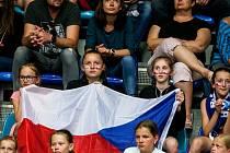 Mistrovství Evropy basketbalistek v Hradci Králové: České republika - Ukrajina.