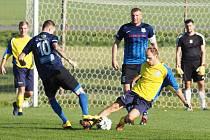 Okresní přebor ve fotbale: TJ Sokol Myštěves - TJ Sokol Malšova Lhota.