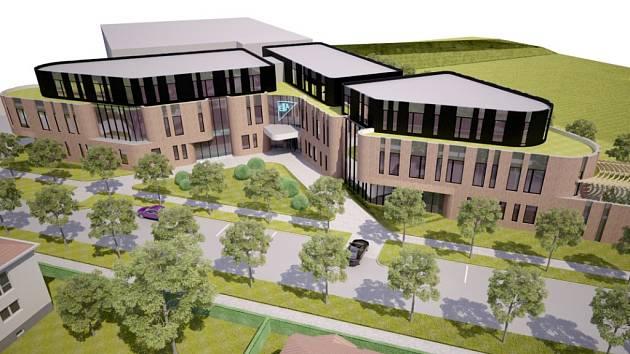 Takto by měla vypadat nová budova u polikliniky, pokud firma plány nezmění.