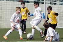 Zrekonstruované tréninkové centrum Bavlna pro mladé fotbalisty v Hradci Králové.