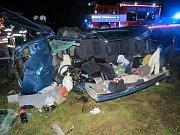 Dopravní nehoda dvou osobních automobilů u Hřibska.