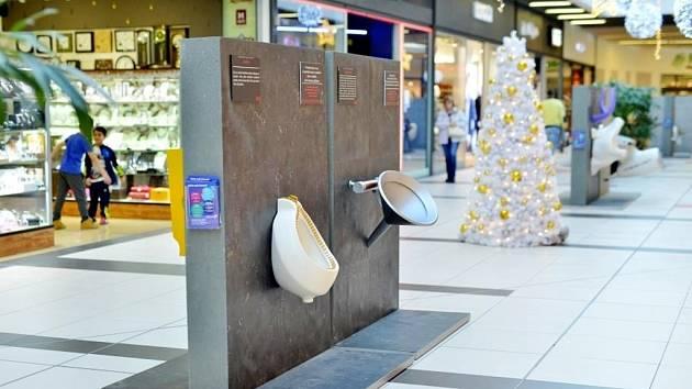 Výstava Pissoir Art Gallery v královéhradeckém obchodním centru Futurum.